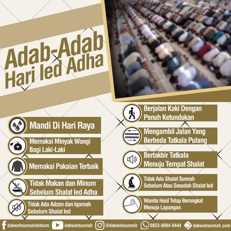 Adab-adab hari Idul Adha | Foto Dakwah