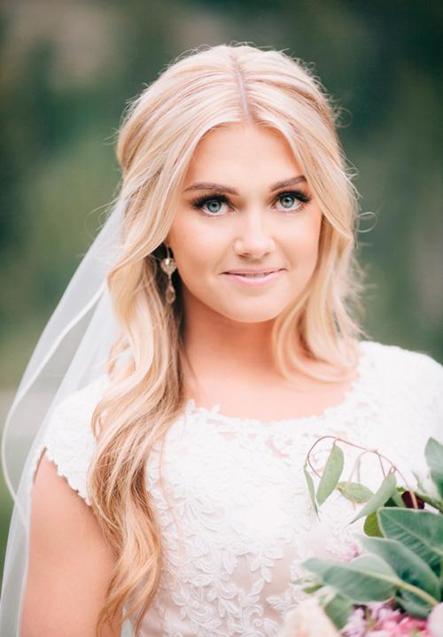 Bonitos peinados de novias | Colección peinados suelto