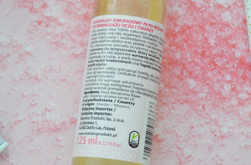 Naturalny płyn różany dwufazowy oraz woda różana - Beaute Marrakech