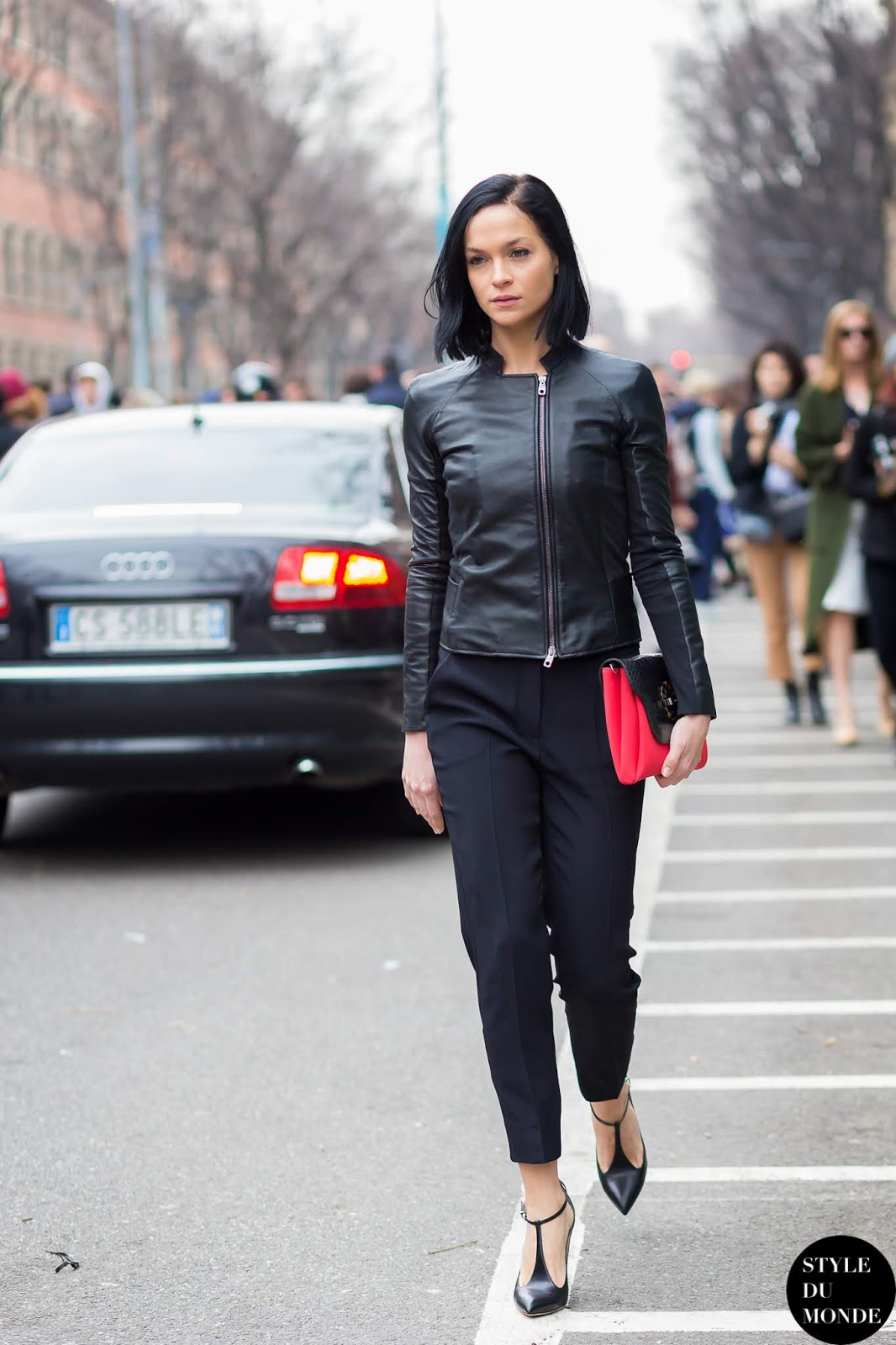 Swap Your Office Blazer for a Chic Leather Jacket