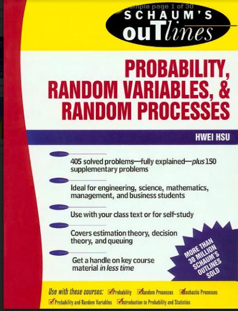 SCHAUM'S OUTLINES | PROBABILITY RANDOM VARIABLES AND RANDOM PROCESSES