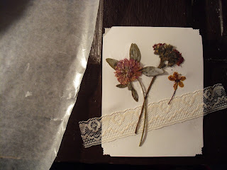 GetCreating Make Your Own Pressed Flower Card - Add Waxed Paper