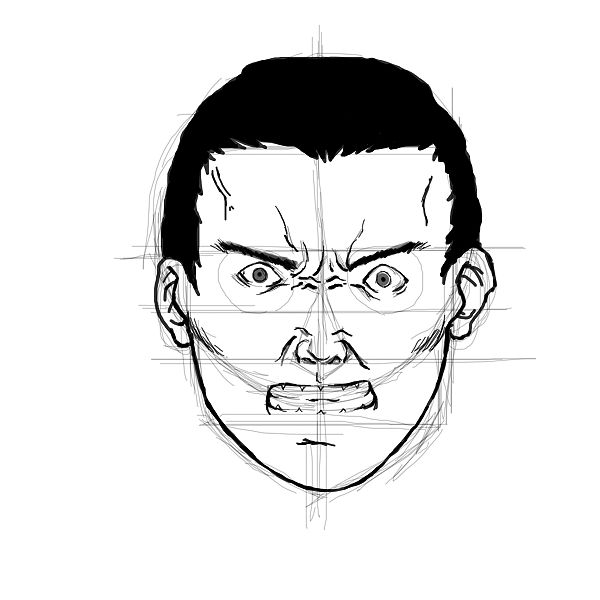 Angry face ink step 10