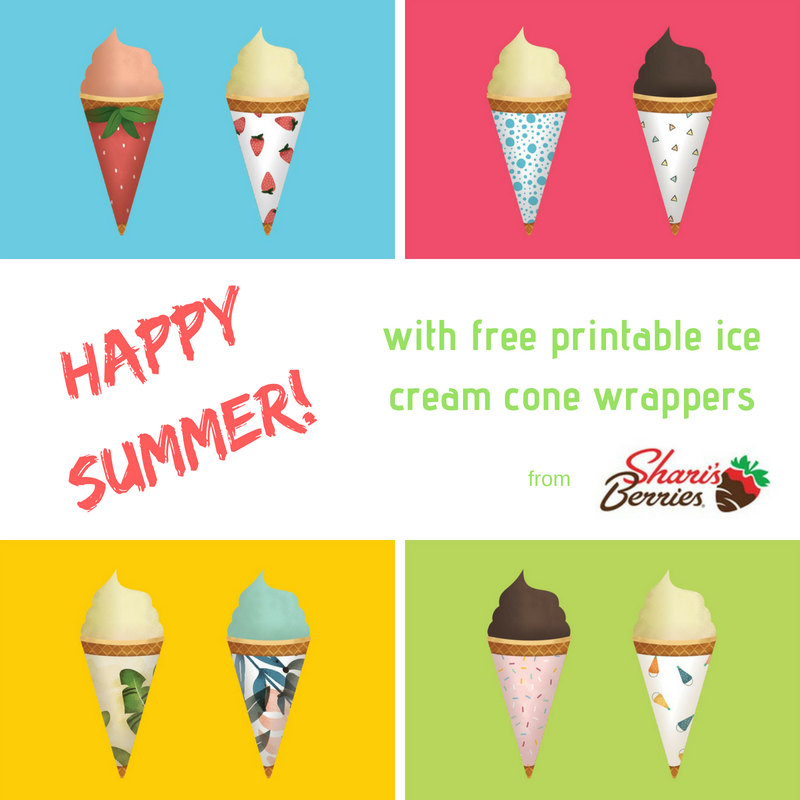 photograph about Printable Ice Cream Cones called Hi Summer season! with free of charge ice product cone wrappers Trying to keep it Genuine