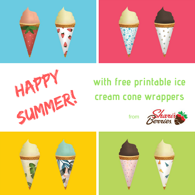 Hello Summer! with free ice cream cone wrappers