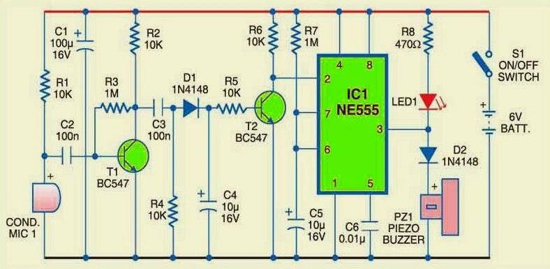 555 Ic Buzzer Circuit - Circuit Diagram Images