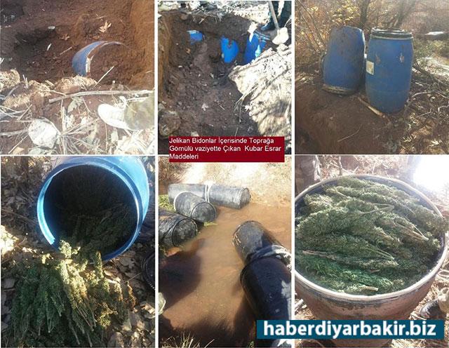 DİYARBAKIR-Diyarbakır Valiliği tarafından yapılan açıklamada, Lice ve Kocaköy ilçelerinde yaklaşık 9 ton esrar ele geçirildiği belirtildi.
