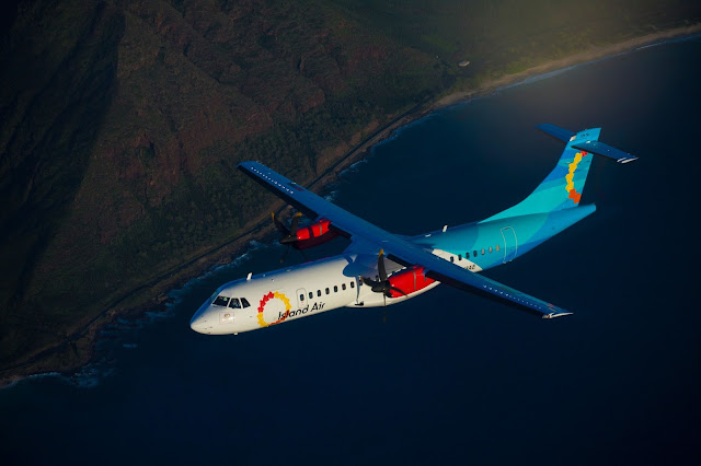 Hawaii Island Air ATR-72 Inflight