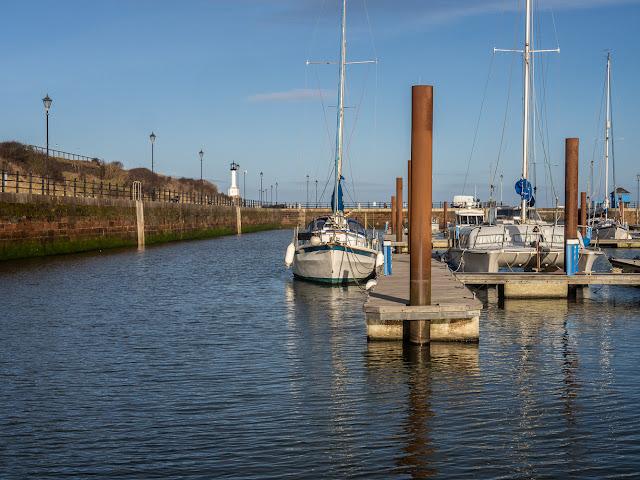 Photo of sunny Tuesday at Maryport Marina