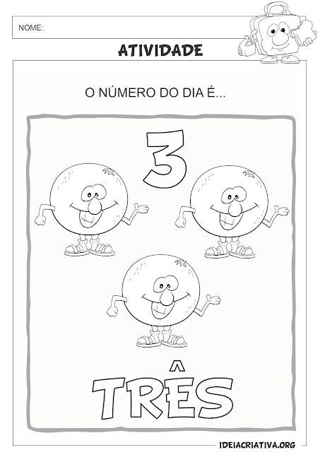 Atividades Matemática Numerais 0 a 10