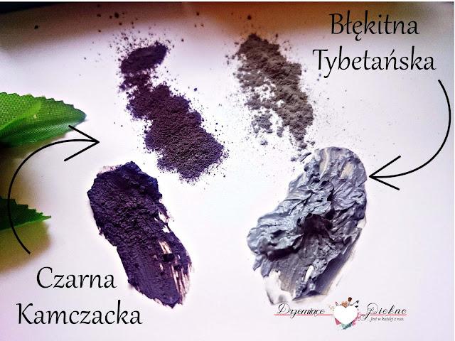 Glinki dla urody - czarna wulkaniczna kamczacka oraz błękitna tybetańska z ekstraktem z żeń-szenia.