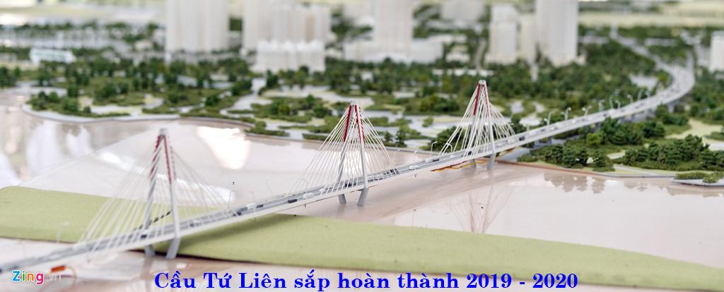 Cây cầu tứ liên sắp sửa được xây dựng xong
