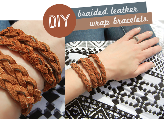 Braided Leather Wrap Bracelet Tutorial