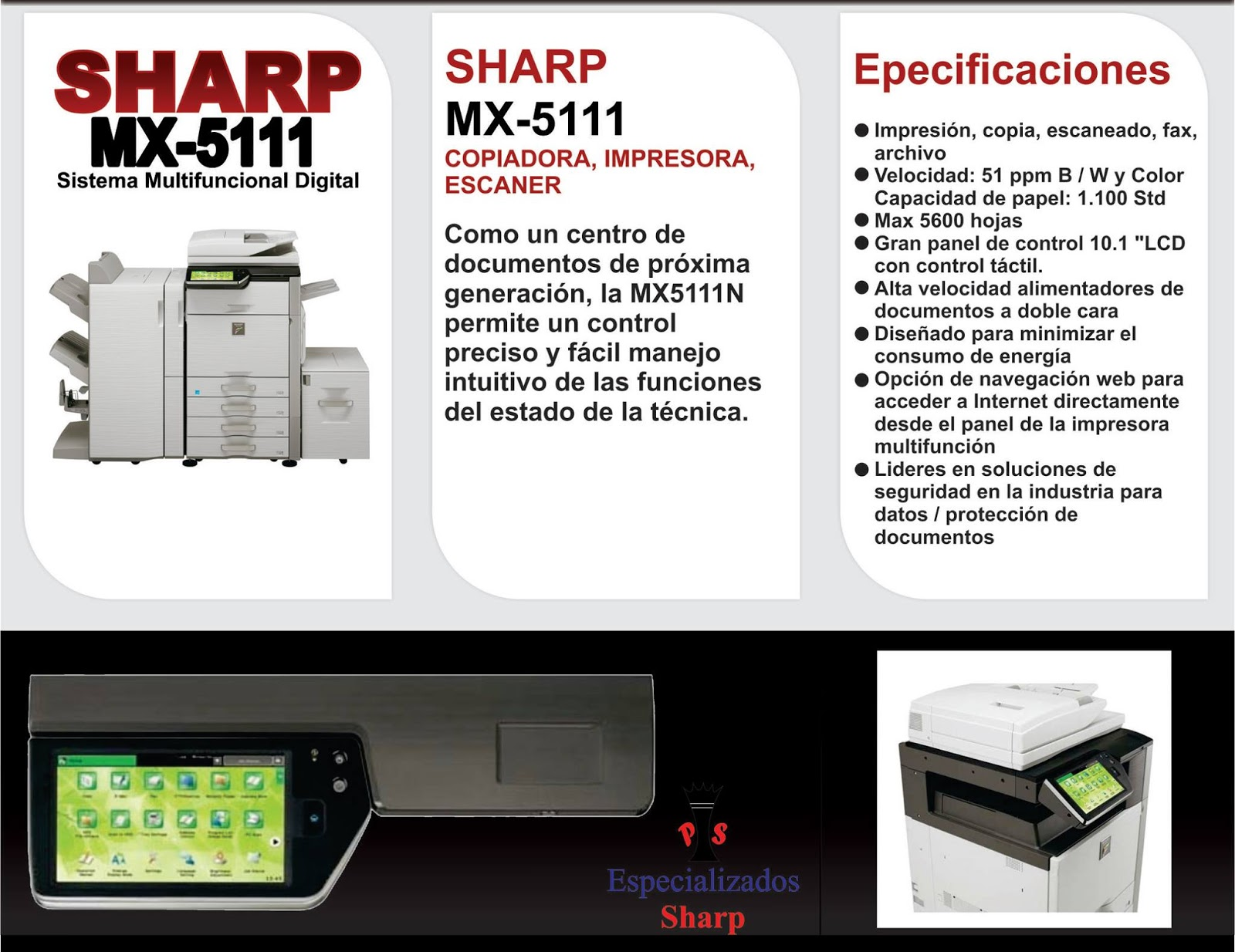 Mercado Libre Copiadoras Copiadora Sharp Color Mx5110n Copiadora Impresora