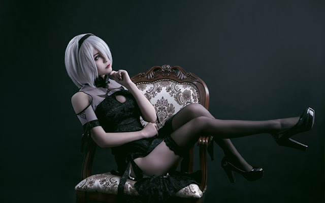 Nier Automata 2B Cos Wallpaper Engine
