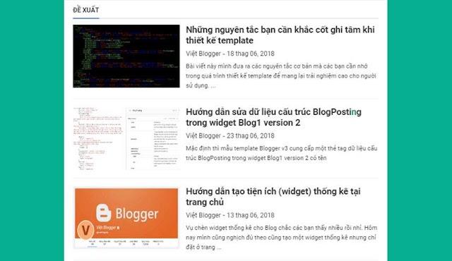 Tạo tiện ích bài đăng ngẫu nhiên random posts widget