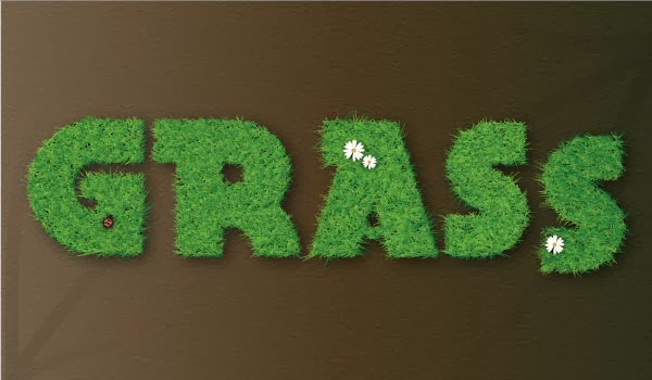 How to Create a Vector Grass Text Effect