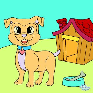 Ausmalbilder Hunde - Malvorlagen für Kinder