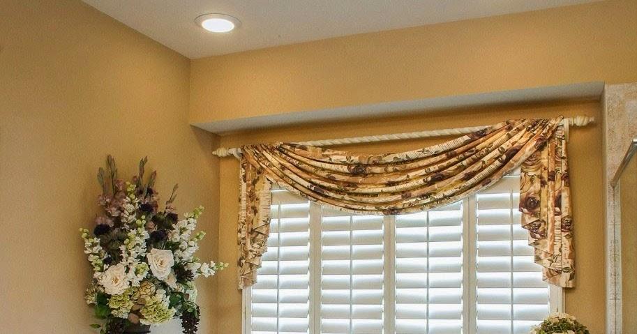 Curtain Ideas Bathroom Window Curtains With Attached Valance