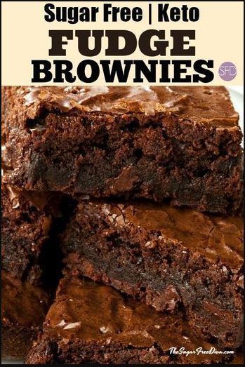 Keto Sugar Free Brownies - A keto low carb sugar free recipe for brownies. #brownies #dessert #recipe