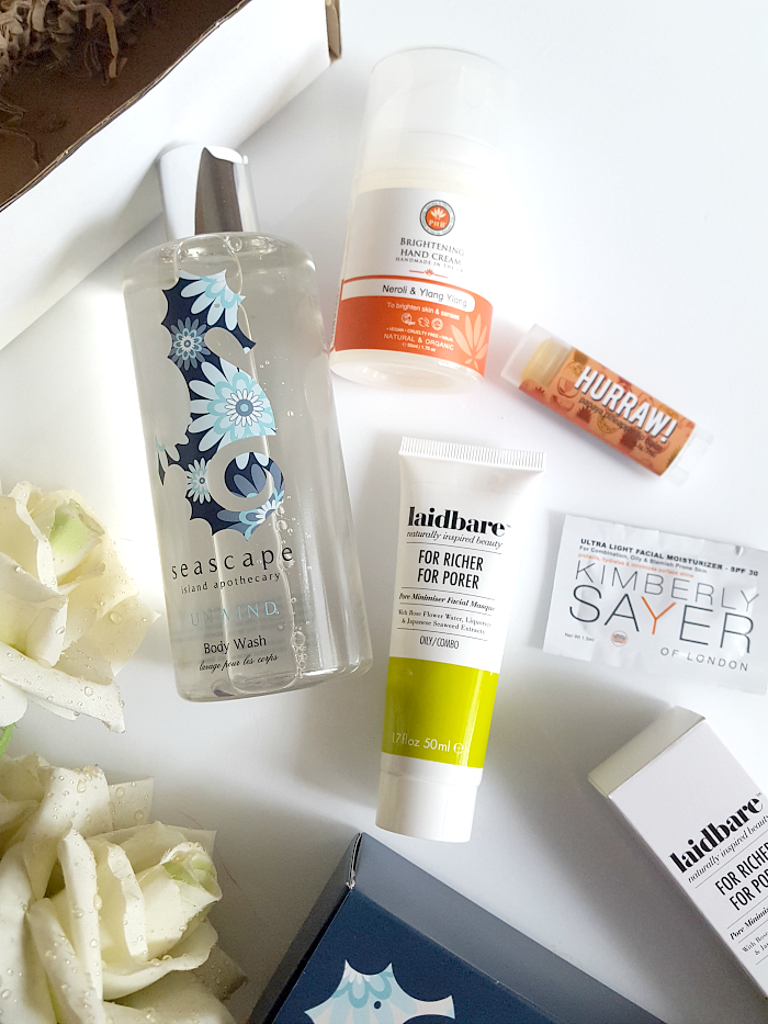 LoveLula Beauty Box März 2017 - Seascape Island Apothecary, PHB Ethical Beauty, Laidbare, Kimberly Sayer, HURRAW