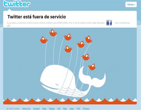Twitter estuvo fuera de servicio