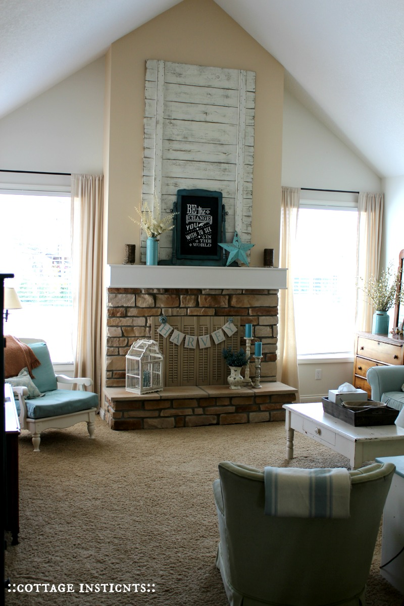 Top Cottage Instincts Fireplace Before And After Di58