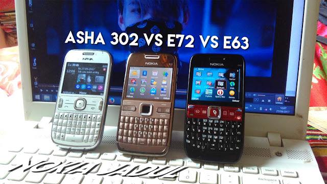 Nokia E72 vs Nokia E63 vs Nokia Asha 302 vs E71