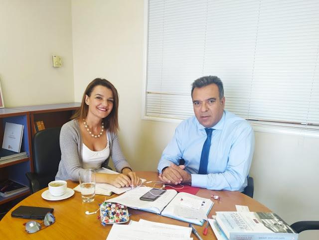 Γιάννενα: Συνάντηση της Βουλευτού ΝΔ Μαρίας-Αλεξάνδρας Κεφάλα με την ηγεσία του Υπουργείου Τουρισμού