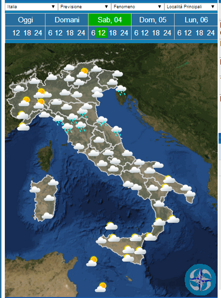 Weather forecast Easter: rain and sun in Italy on Easter Monday