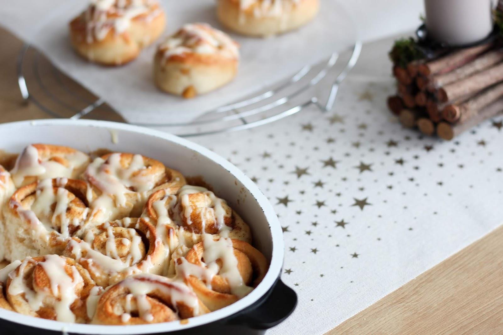 Bratapfel-Zimtschnecken