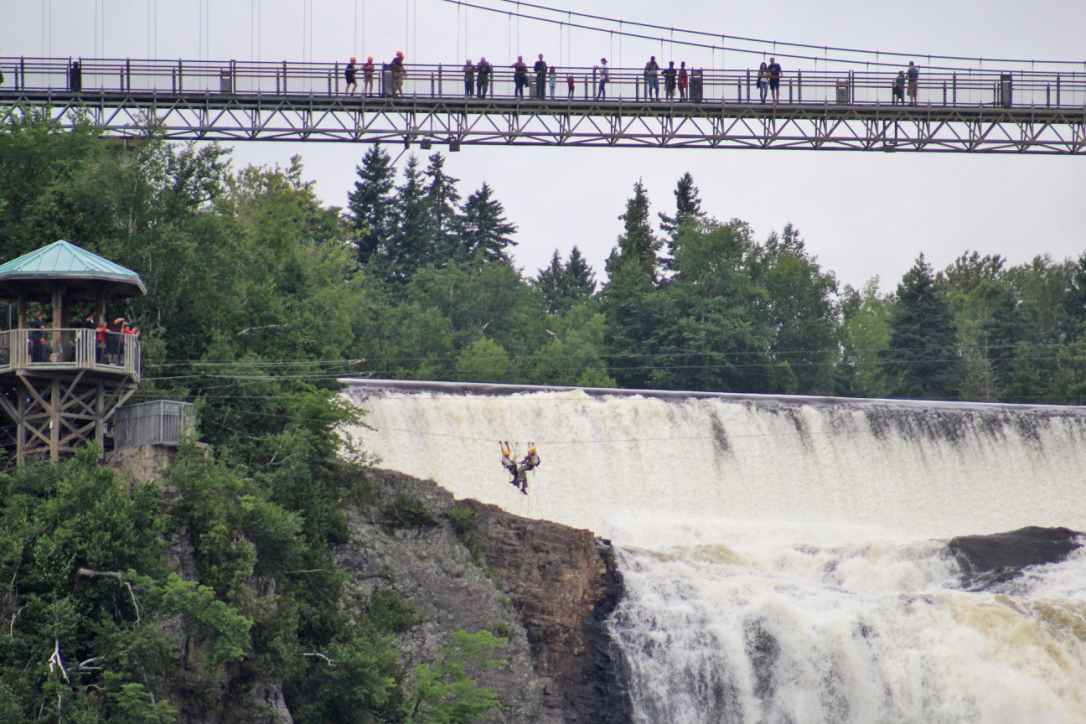 montmorency waterfalls zip-line
