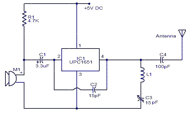 upc1651 fm transmitter electronic schematic circuit diagram picture