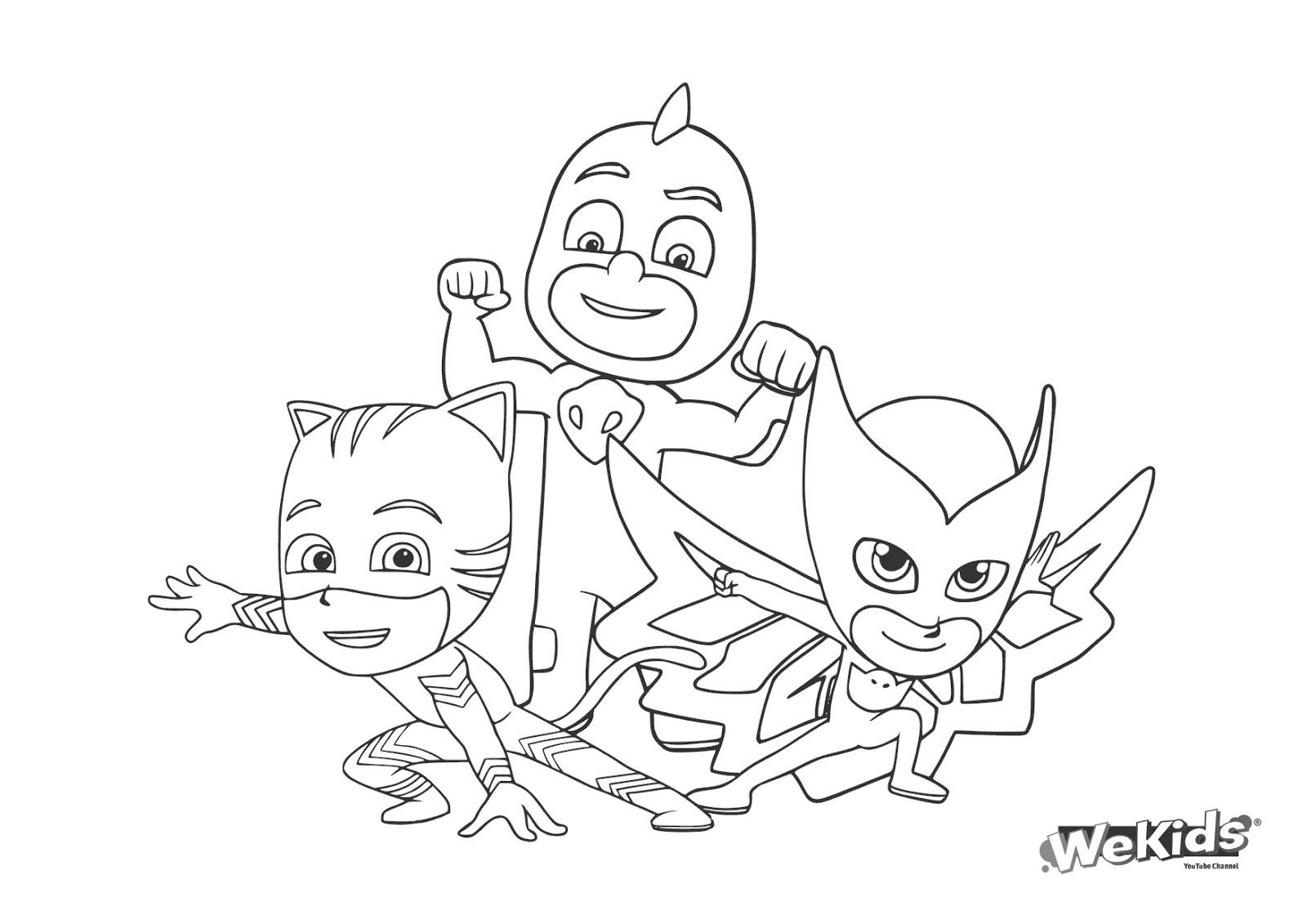 Aprende Brincando: Desenhos Animados Dos Pijamax Para Colorir