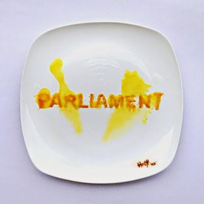 Arte en plato de comida