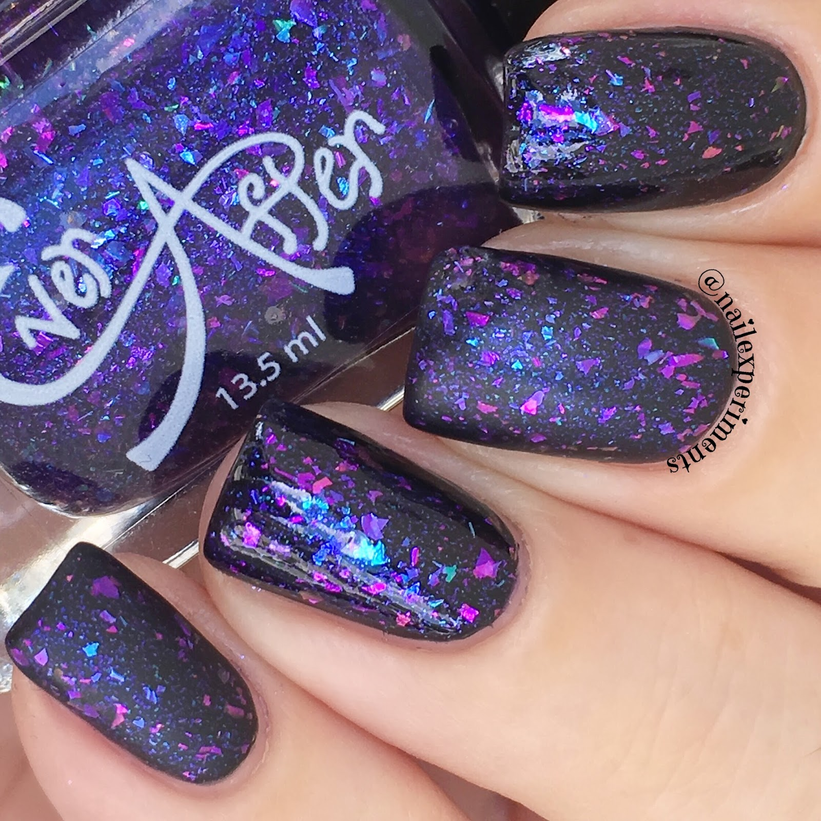 ever after polish flake it up jellies purple haze swatch