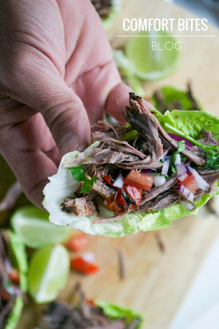 Slow Cooker Paleo Beef Brisket Tacos