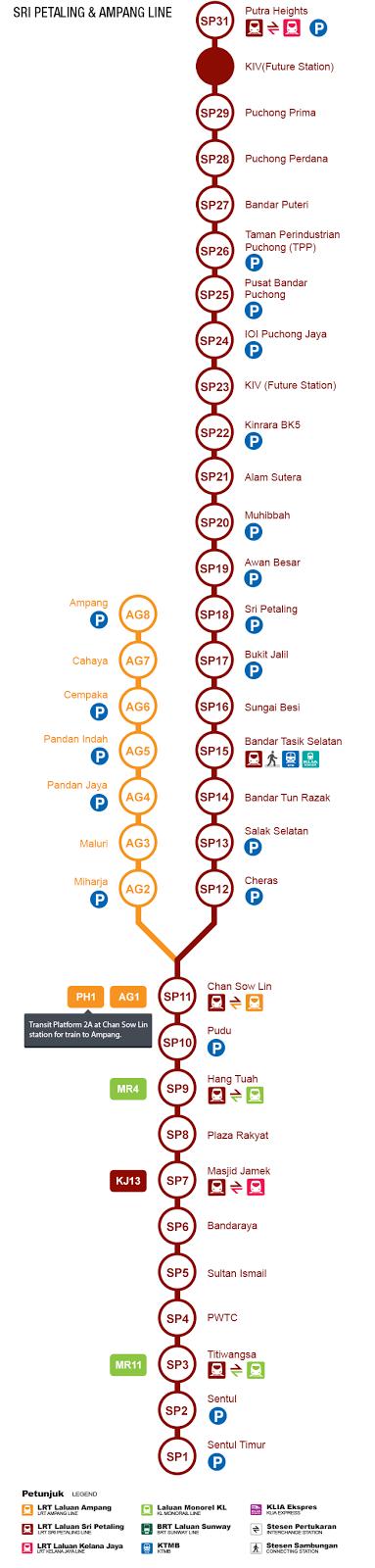 peta Laluan LRT Ampang