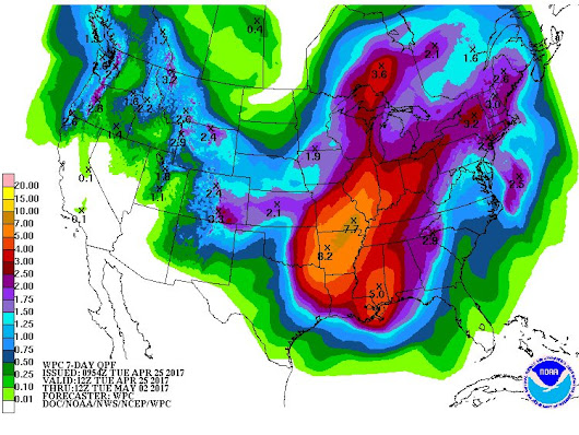 7 DAY PRECIPITATION OUTLOOK FLOODING RAINS INTO NEXT WEEK
