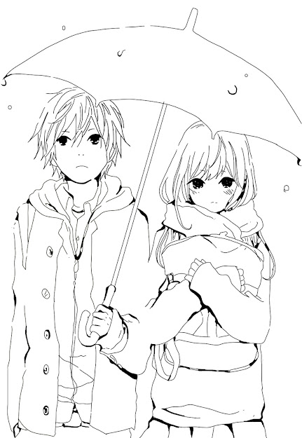 Cute Anime Gummy Bear Colouring Pages Page  Inside Anime Couples Coloring  Pages
