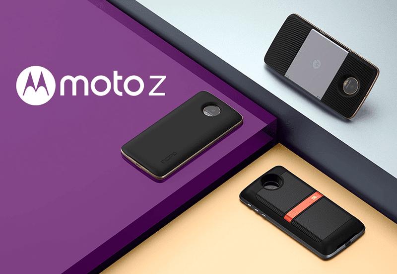 Moto Z series with Moto Mods