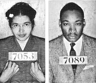 Young Rosa Parks & Martin Luther King