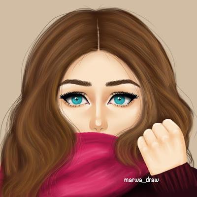 صور بنات رسم 2021 رسومات بنات جميلة كيوت