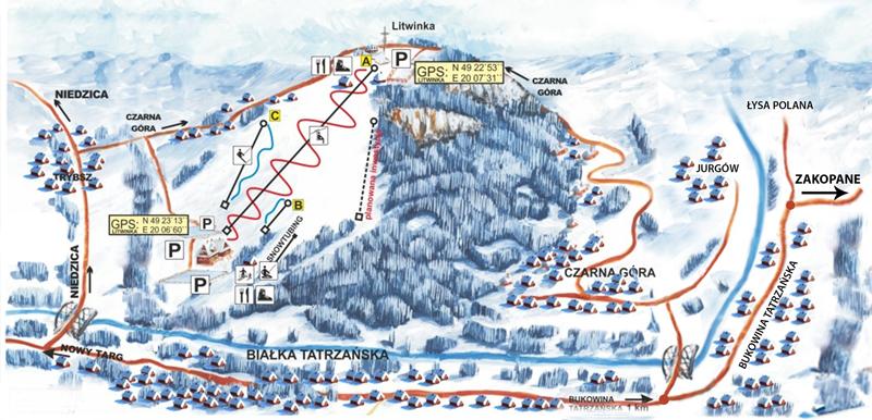 wyciąg narciarski czarna góra