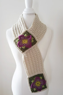 Structured Rock Cress Scarf -- Crochet Pattern by Susan Carlson of Felted Button