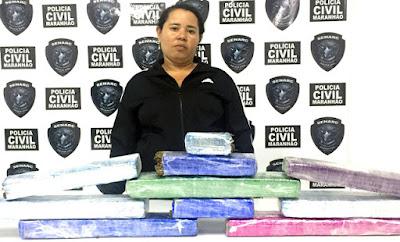 Bacabeira: Mulher é presa com 12 kg de Maconha