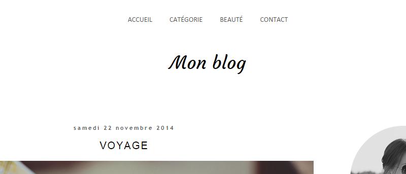 Déplacer la barre de navigation au-dessus du titre du blog Blogger