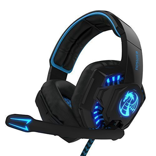 casque gaming pour ps4 pc laptop mac t l phone avec microphone led lumi re. Black Bedroom Furniture Sets. Home Design Ideas