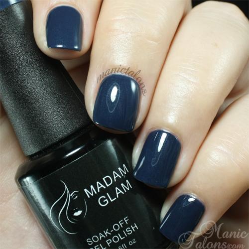 Madam Glam Gel Polish 191 Navy Blue Swatch