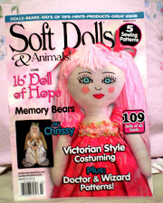 Honored to have my doll featured on the front cover of Soft Dolls and Animals